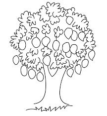 Mango Tree Clipart Black And White ClipartXtras