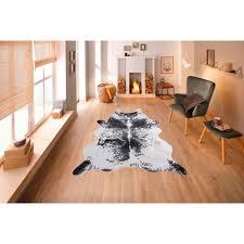 my home fellteppich emil fellförmig 8 mm höhe kunstfell kuhfell optik wohnzimmer
