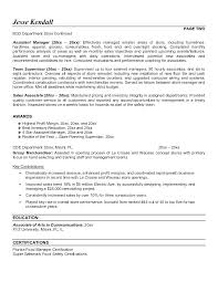Assistant Retail Store Manager Resume Sample Template For Best Templates Samples Images On Inside Templ
