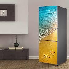 romantik skyrim und meer landschaft design kühlschrank tür aufkleber für küche wohnzimmer kühlschrank dekoration wohnkultur