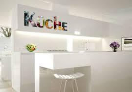 acrylbuchstaben küche 3d dekobuchstaben wandschmuck