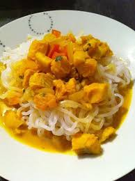 cuisiner du colin surgelé curry de colin au lait de coco dukan coriandre moulue gingembre
