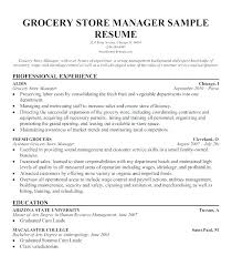 Retail Manager Resume Templates Sample Grocery Store Samples Template