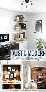 Remodelaholic | Rustic Modern Home Office Design Inspiration & Tips 27 Best Office Design Inspiration Images On Pinterest Amusing Blue Wall Painted Schemes Feat Black Table Shelf Home Fniture Designs Alluring Decor Modern Chic Interior Ideas Room Sensational Pictures Brilliant Great Therpist Office Ideas After The Fabric Of The Roman Shades 20 Inspirational And Color Amazing Diy Desk Pics Decoration Pleasing Studio Enchanting Cporate Small Best