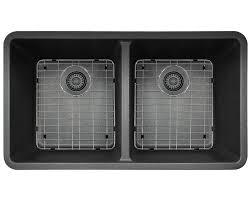 Did Hard Merchandise Sinks by 802 Black Double Equal Bowl Trugranite Kitchen Sink