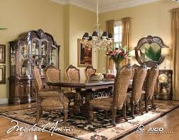 AICO Windsor Court Rectangular Dining Table Set by Michael Amini by