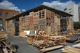 Jellyfish Theatre Shipping Pallets Pallet Theater Recycled Materials London Sustainable Architecture