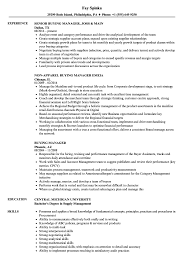 Download Buying Manager Resume Sample As Image File
