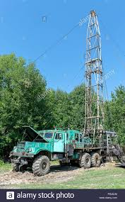 100 Truck Well Mobile Oil Rig Truck Drilling The Oil Well Stock Photo 216759276