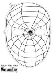 Halloween Crafts Easy Printable Spider Face Mask At WomansDay