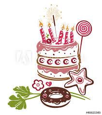 geburtstag torte kuchen birthday vector kaufen sie