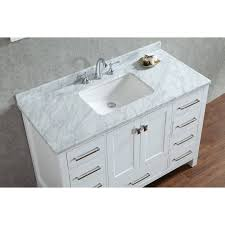 48 Inch Double Sink Vanity Top by Buy Vincent 48 Inch Solid Wood Single Bathroom Vanity In White Hm