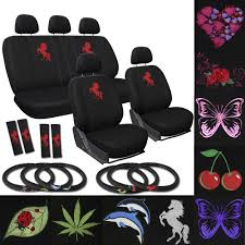 Oxgord Tactical Floor Mats by Suv Seat Covers For Ford Explorer Red Rose Flower Bucket