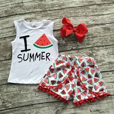 baby girls summer boutique short sets ruffle shorts set