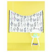 cactus tapestry 6 x4 black white room essentials target