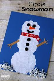 Circle Snowman Winter Craft Living Life Intentionally