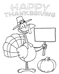Turkey Thanksgiving Coloring Pages Children