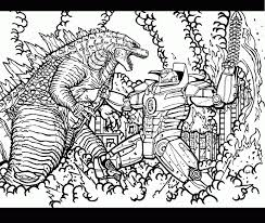 New Godzilla Coloring Page Free Printable Pages