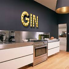 gin light up illuminated effect letters trendy wall sticker decal