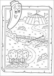 The Map Coloring Page From Dora Explorer Category Select 27260 Printable Crafts Of Cartoons Nature Animals Bible And Many More