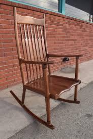 100 Unique Wooden Rocking Chair Vintage Mid Century Modern Sculptural Sam Maloof Style
