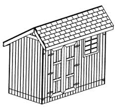 Saltbox Shed Plans 10x12 by 12x12 Saltbox Wood Shed Garden Shed Plans Getaway Cabin Wood