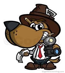 Cartoon Dog News Reporter