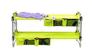 disc o bed youth kid o bunk with organizers lime green cing