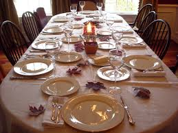 Casual Kitchen Table Centerpiece Ideas by Dining Room Casual Dinner Table Set With White Table Cloth And