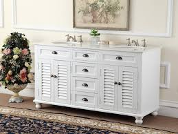 Double Sink Vanity With Dressing Table by Rustic Double Sink Vanity Black Stained Wooden Frame Glass Window