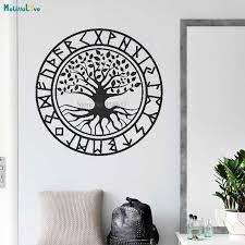 baum des lebens aufkleber viking yggdrasil baum runedecor wohnzimmer hause dekoration vinyl tapete ba670