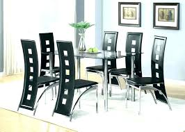 Full Size Of Glass Dining Room Table Seats 6 Sets Black Chairs Set Decoration And