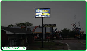 outdoor lighted monument signs sign dynamics dayton ohio