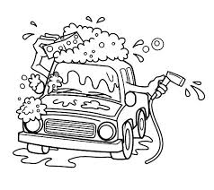 Paterson Car Wash Colouring Page