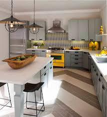Yellow And Gray Kitchen Decor Photo