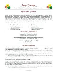 Sample Resume For Teacher Assistant Templates Teachers Preschool Page 1 Curriculum Vitae