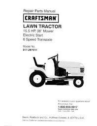 Craftsman Lt1000 Drive Belt Size by 917 287011 Craftsman Lawn Tractor 15 5 Hp 38 Inch Mower 6 Speed
