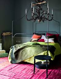Gorgeous Modern Jewel Tones Make This Bedroom Roar The Deep Green To Neon Color Palette IdeasBedroom Decorating