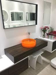 bad runde harz zähler top orange waschbecken schiff