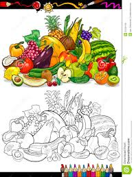 Royalty Free Stock Photo Download Fruits And Vegetables For Coloring Book