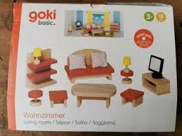 goki 51951 puppenhausmöbel küche rot