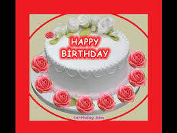 Cake and Rose Happy Birthday 383