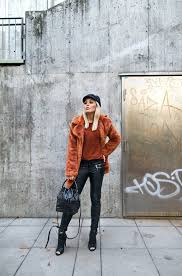 A Faux Fur Coat Is Must Have This Winter Paired With Leather Leggings And