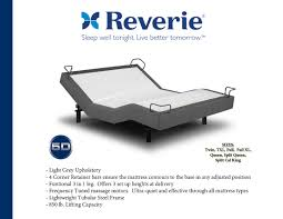 Adjustable Bed Base Split King by Reverie 5d Adjustable Bed With Wireless Remote Massage Zero Gravity