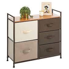mdesign kommode mit 5 schubladen breiter schubladenschrank für schlafzimmer wohnzimmer oder flur kleiderkommode aus metall mdf und stoff