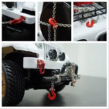 100 Axial Rc Trucks 110 RC Rock Crawler Accessories Tow Hooks And Trailer Chain Kit For