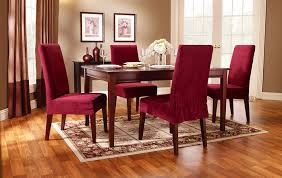 Red Dining Room Chair Covers For Your Best Design Set On