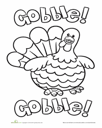 Plump Thanksgiving Turkey Coloring Page