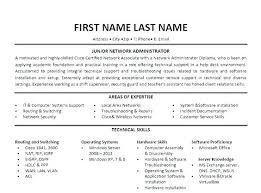 Administrator Resume Examples Network Entry Level