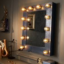 broadway mirror faux leather navy blue reflections of me